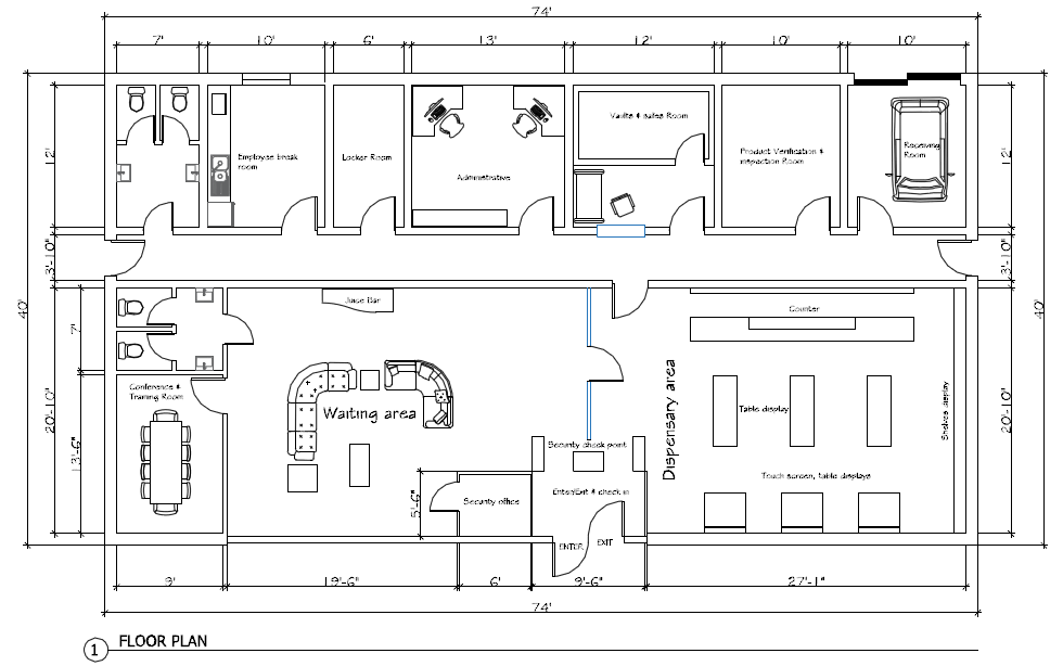 Dispensary Floor Plan Design