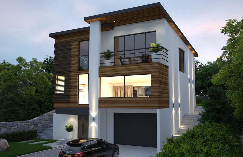 Three-Story Modern Single Family Residence Design