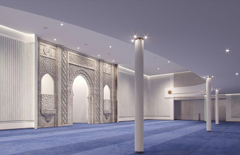 Memphis Masjid Prayer Hall with Qiblah Wall