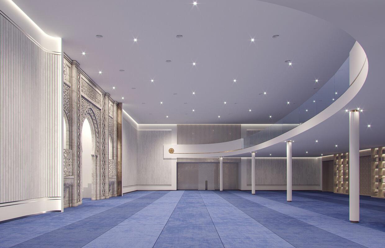 Memphis Masjid Curving Mezzanine